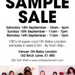 Oh Baby London Sample Sale This Weekend